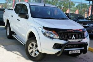 2018 Mitsubishi Triton MQ MY18 GLX+ Double Cab White 5 Speed Sports Automatic Utility