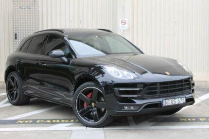 2015 Porsche Macan 95B MY16 Turbo PDK AWD Black 7 Speed Sports Automatic Dual Clutch Wagon