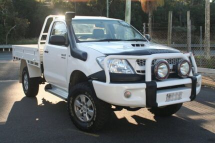 2008 Toyota Hilux KUN26R 08 Upgrade SR (4x4) White 5 Speed Manual Cab Chassis Birkdale Redland Area Preview