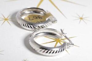 BRAND NEW 10 KARAT WHITE GOLD HOOP EARRINGS FOR SALE