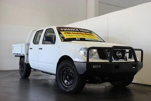 2012 Nissan Navara D40 MY12 RX (4x4) White 5 Speed Automatic Dual Cab Pick-up Underwood Logan Area Preview