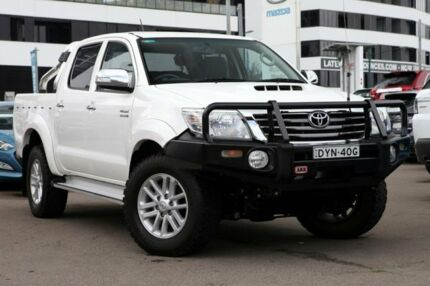 2013 Toyota Hilux KUN26R MY14 SR5 Double Cab White 5 Speed Automatic Utility Liverpool Liverpool Area Preview