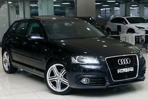 2012 Audi A3 8P MY12 Ambition Sportback S tronic Black 7 Speed Sports Automatic Dual Clutch Waterloo Inner Sydney Preview