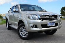 2014 Toyota Hilux KUN26R MY14 SR5 Double Cab Sterling Silver 5 Speed Automatic Utility Claremont Nedlands Area Preview