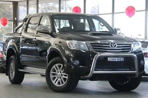 2013 Toyota Hilux KUN26R MY14 SR5 (4x4) Black 5 Speed Automatic Dual Cab Pick-up Roseville Ku-ring-gai Area Preview