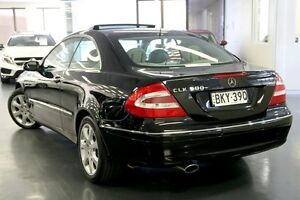 2004 Mercedes-Benz CLK500 C209 MY05 Elegance Obsidian Black 7 Speed Sports Automatic Coupe Chatswood Willoughby Area Preview