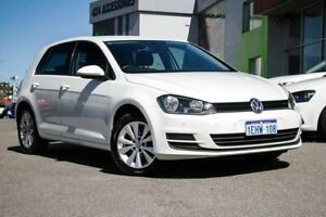 2013 Volkswagen Golf VII MY14 90TSI DSG Comfortline White 7 Speed Sports Automatic Dual Clutch Myaree Melville Area Preview