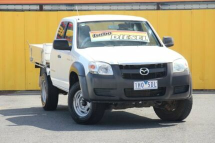 2007 Mazda BT-50 UNY0E3 DX+ Freestyle White 5 Speed Manual Cab Chassis Cheltenham Kingston Area Preview