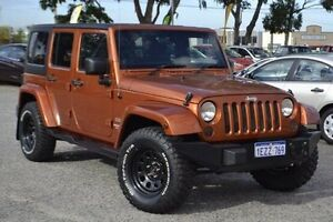 2011 Jeep Wrangler JK MY2011 Unlimited 70th Anniversary Orange 6 Speed Manual Hardtop Pearsall Wanneroo Area Preview