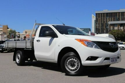 2013 Mazda BT-50 XT (4x2) White 6 Speed Manual Cab Chassis Northbridge Perth City Area Preview