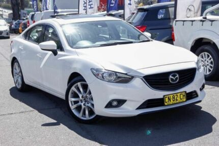 2013 Mazda 6 GJ1031 Atenza SKYACTIV-Drive White 6 Speed Sports Automatic Sedan