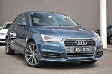 2015 Audi A1 8X MY15 Sportback S tronic Blue 7 Speed Sports Automatic Dual Clutch Hatchback Burwood Whitehorse Area Preview