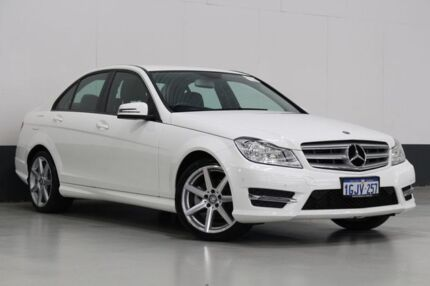 2014 Mercedes-Benz C200 W204 MY14 White 7 Speed Automatic G-Tronic Sedan Bentley Canning Area Preview