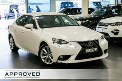 2016 Lexus IS 200t ASE30R Luxury White 8 Speed Sports Automatic Sedan Brookvale Manly Area Preview