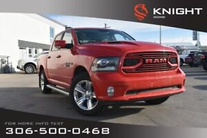 2018 Ram 1500 Sport | LOW KMs | Heated/Cooled Leather Seats | Re