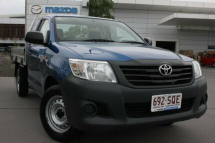 2012 Toyota Hilux TGN16R MY12 Workmate Blue 5 Speed Manual Cab Chassis Maroochydore Maroochydore Area Preview