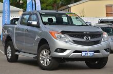 2015 Mazda BT-50 UP0YF1 XTR 4x2 Hi-Rider Silver 6 Speed Sports Automatic Utility Maylands Bayswater Area Preview