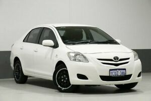 2007 Toyota Yaris NCP93R YRS White 4 Speed Automatic Sedan