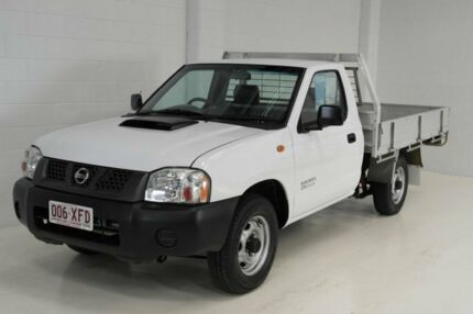 2012 Nissan Navara D22 S5 DX White 5 Speed Manual Cab Chassis