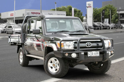 2013 Toyota Landcruiser VDJ79R MY13 GXL Double Cab Graphite 5 Speed Manual Cab Chassis Adelaide CBD Adelaide City Preview
