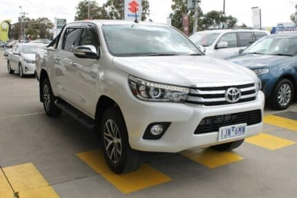 2017 Toyota Hilux GUN126R SR5 Double Cab White 6 Speed Sports Automatic Utility Hoppers Crossing Wyndham Area Preview