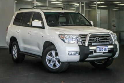 2011 Toyota Landcruiser UZJ200R MY10 Sahara White 5 Speed Sports Automatic Wagon Bellevue Swan Area Preview