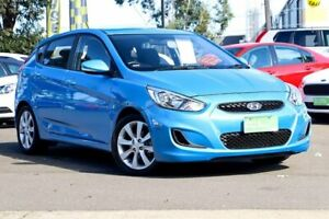 2017 Hyundai Accent RB5 MY17 Sport Blue 6 Speed Sports Automatic Hatchback Condell Park Bankstown Area Preview
