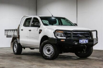 2013 Ford Ranger XL XL White Manual Cab Chassis - Dual Cab Welshpool Canning Area Preview