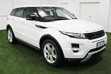 2012 Land Rover Range Rover Evoque L538 MY12 SD4 CommandShift Dynamic White 6 Speed Sports Automatic Moonah Glenorchy Area Preview