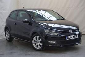 2012 Volkswagen Polo 1.2 MATCH 5d 69 BHP Petrol black Manual
