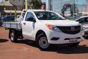 2015 Mazda BT-50 UP0YD1 XT 4x2 White 6 Speed Manual Cab Chassis Mindarie Wanneroo Area Preview