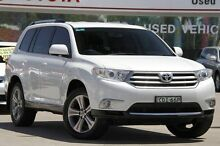 2011 Toyota Kluger GSU40R MY11 Upgrade KX-S (FWD) White 5 Speed Automatic Wagon Old Guildford Fairfield Area Preview