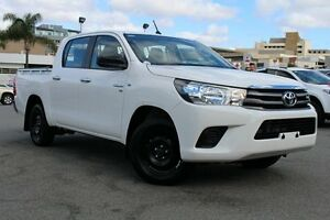 2015 Toyota Hilux GGN120R SR Double Cab Glacier White 6 Speed Sports Automatic Utility Northbridge Perth City Area Preview