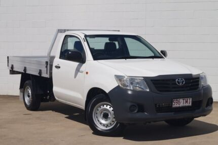 2012 Toyota Hilux TGN16R MY12 Workmate 4x2 White 5 Speed Manual Cab Chassis Bundaberg Central Bundaberg City Preview