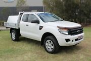2013 Ford Ranger PX XL Super Cab 4x2 Hi-Rider White 6 Speed Sports Automatic Cab Chassis Ormeau Gold Coast North Preview