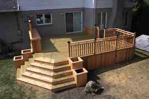 Backyard Deck and Fence