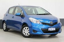 2014 Toyota Yaris NCP130R YR Blue 4 Speed Automatic Hatchback Bentley Canning Area Preview