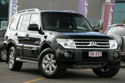 2011 Mitsubishi Pajero NT MY11 Platinum Black 5 Speed Sports Automatic Wagon