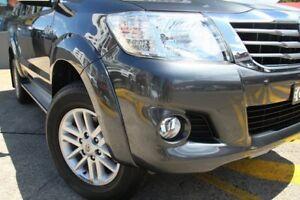 2015 Toyota Hilux KUN26R MY14 SR5 (4x4) Grey 5 Speed Automatic