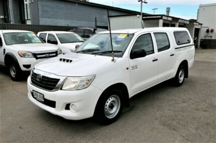 2013 Toyota Hilux KUN16R MY12 SR Double Cab 4x2 White 5 Speed Manual Utility Cheltenham Kingston Area Preview