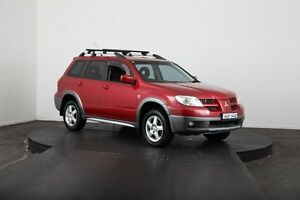 2005 Mitsubishi Outlander ZF XLS Red 4 Speed Auto Sports Mode Wagon McGraths Hill Hawkesbury Area Preview