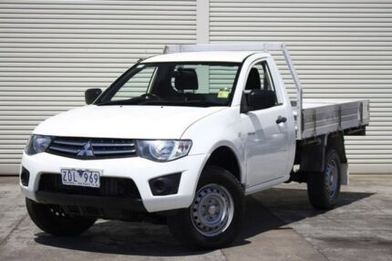2012 Mitsubishi Triton MN MY12 GLX White 4 Speed Automatic Cab Chassis Seaford Frankston Area Preview