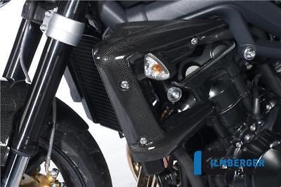 Ilmberger Carbon Fibre Radiator Covers Pair Triumph Street Triple R 675  09-12