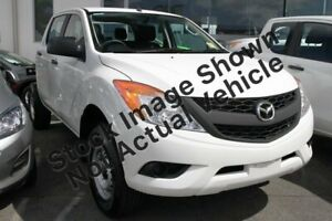 2014 Mazda BT-50 UP0YF1 XT Cool White 6 Speed Manual Cab Chassis Mount Pleasant Mackay City Preview