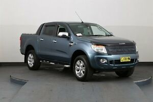 2013 Ford Ranger PX XLT 3.2 (4x4) Blue 6 Speed Automatic Dual Cab Utility Smithfield Parramatta Area Preview