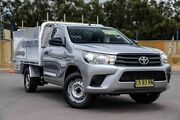 2016 Toyota Hilux TGN121R Workmate 4x2 Silver 5 Speed Manual Cab Chassis McGraths Hill Hawkesbury Area Preview