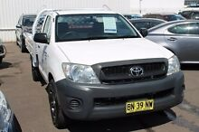 2008 Toyota Hilux TGN16R MY09 Workmate White 4 Speed Automatic Cab Chassis Brookvale Manly Area Preview