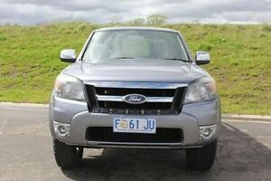 2009 Ford Ranger PK XLT Crew Cab Grey 5 Speed Automatic Utility Invermay Launceston Area Preview
