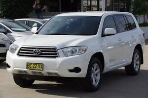 2009 Toyota Kluger White Sports Automatic Wagon Greenacre Bankstown Area Preview