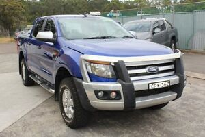 2014 Ford Ranger PX XLS Double Cab Blue 6 Speed Manual Utility Cardiff Lake Macquarie Area Preview